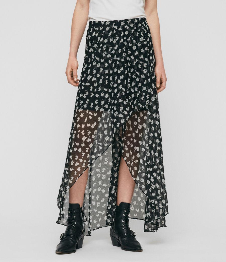 Women's Slvina Scatter Skirt (black) - Image 4
