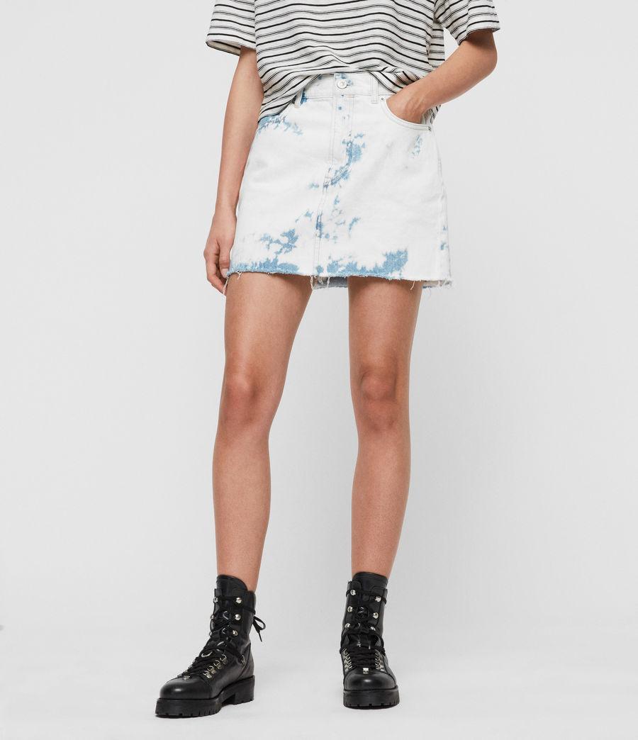 Mujer Minifalda en Mezclilla Lexi (punk_bleach_blue) - Image 1