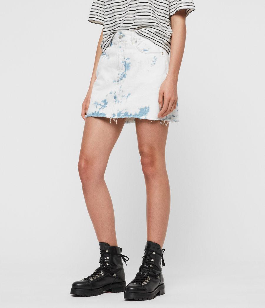 Mujer Minifalda en Mezclilla Lexi (punk_bleach_blue) - Image 2