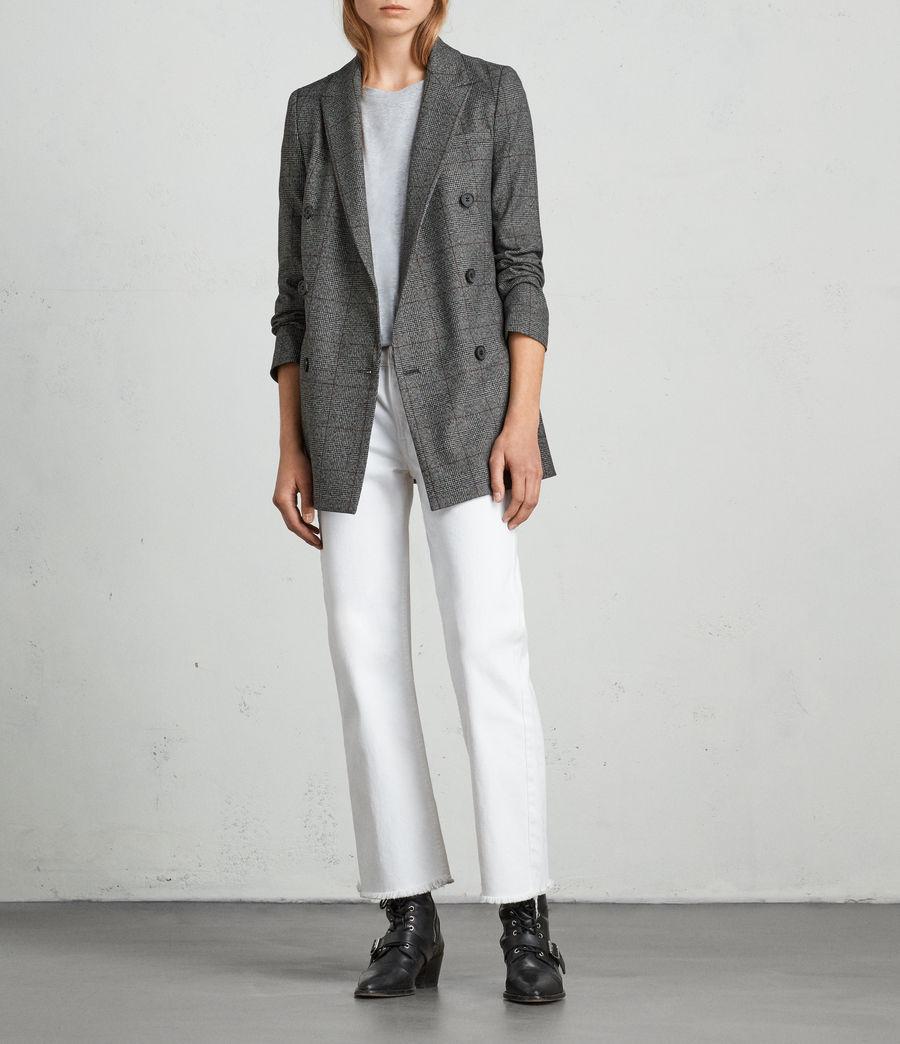 Mujer Blazer Avnie Check (grey) - Image 1