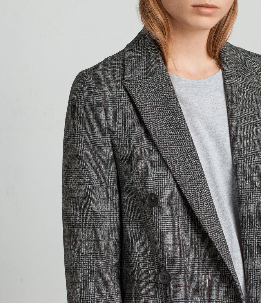 Mujer Blazer Avnie Check (grey) - Image 2