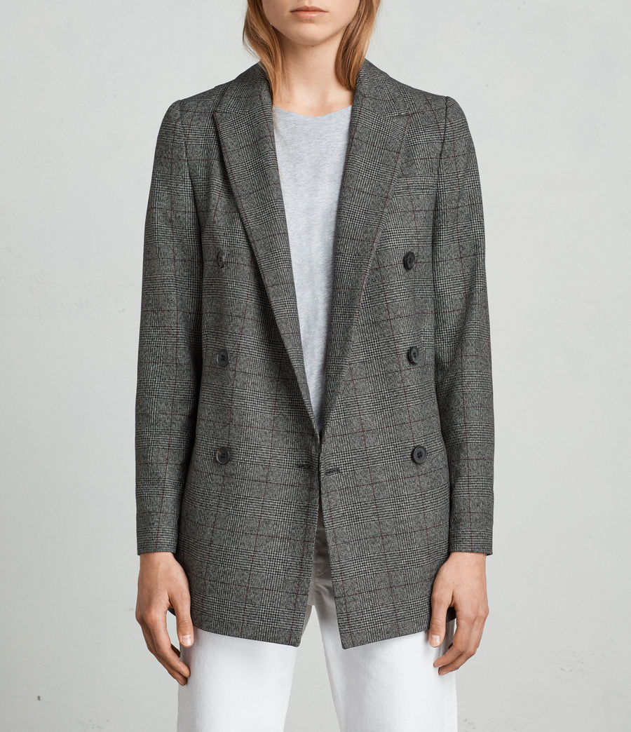 Mujer Blazer Avnie Check (grey) - Image 3