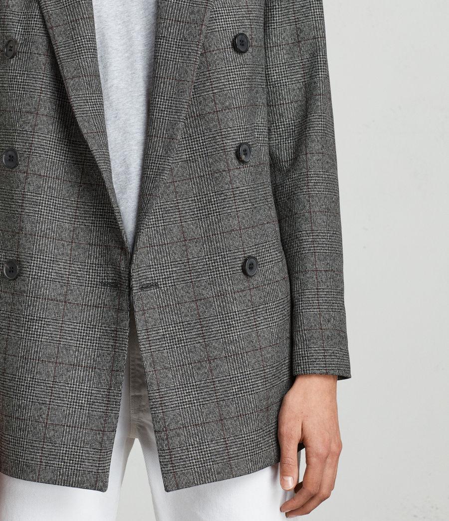 Mujer Blazer Avnie Check (grey) - Image 4