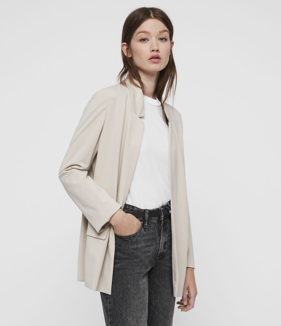 Damen Aida Jersey Blazer (dove_grey) - Image 4