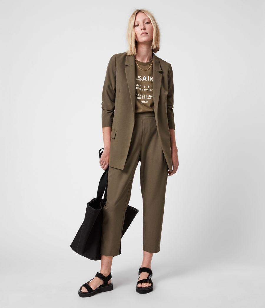 Womens Aleida Tri Blazer (khaki_green) - Image 1
