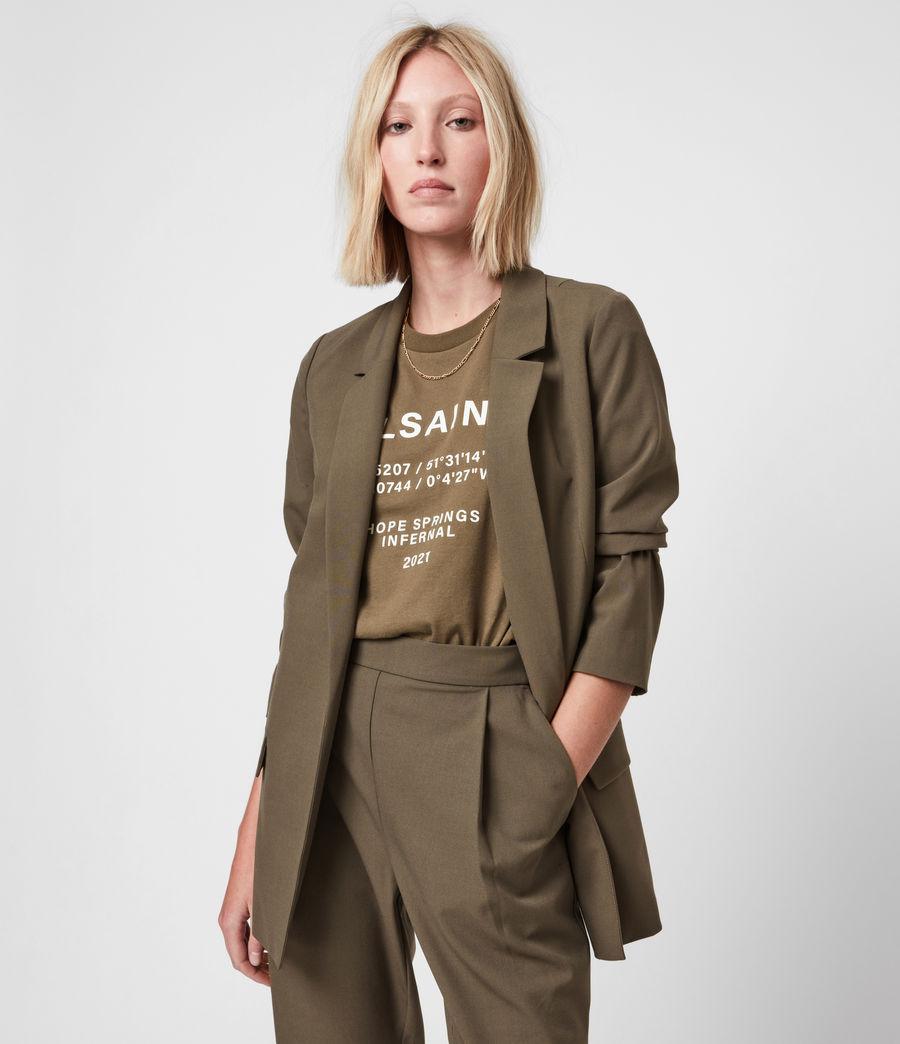 Womens Aleida Tri Blazer (khaki_green) - Image 6