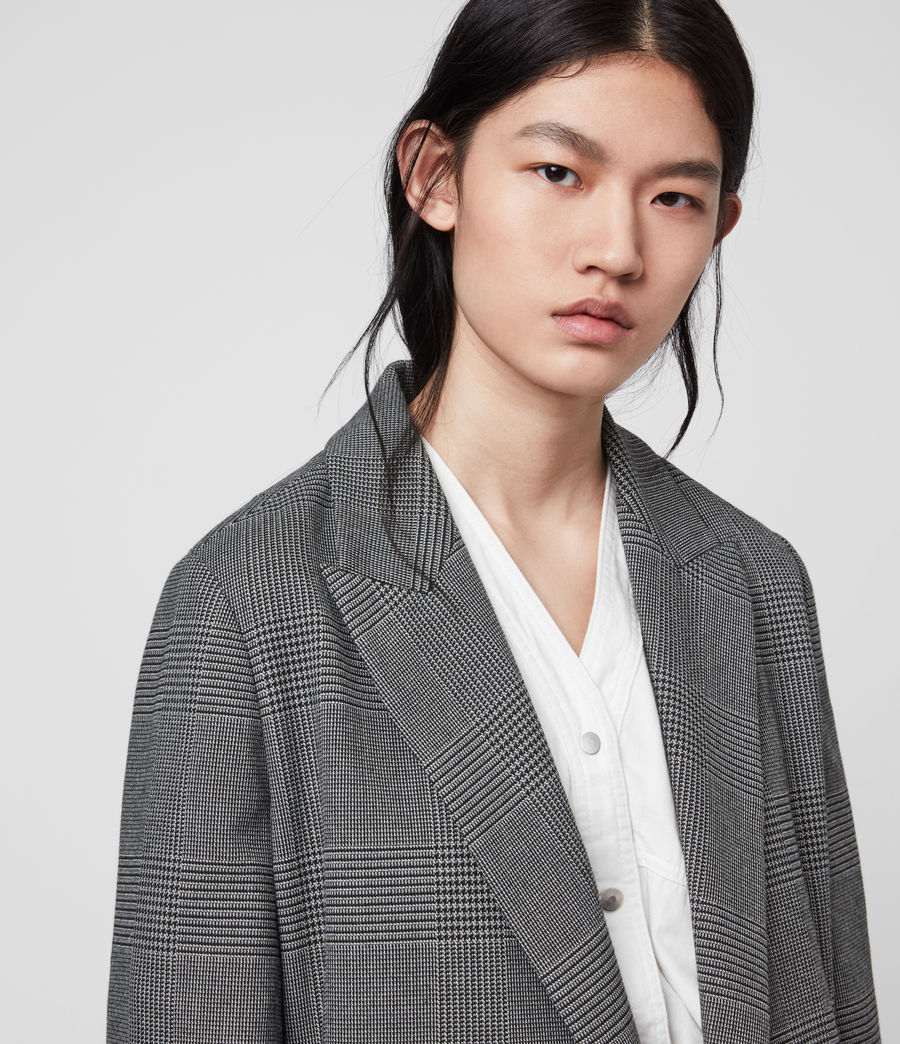 Women's Helei Check Blazer (charcoal_grey) - Image 2