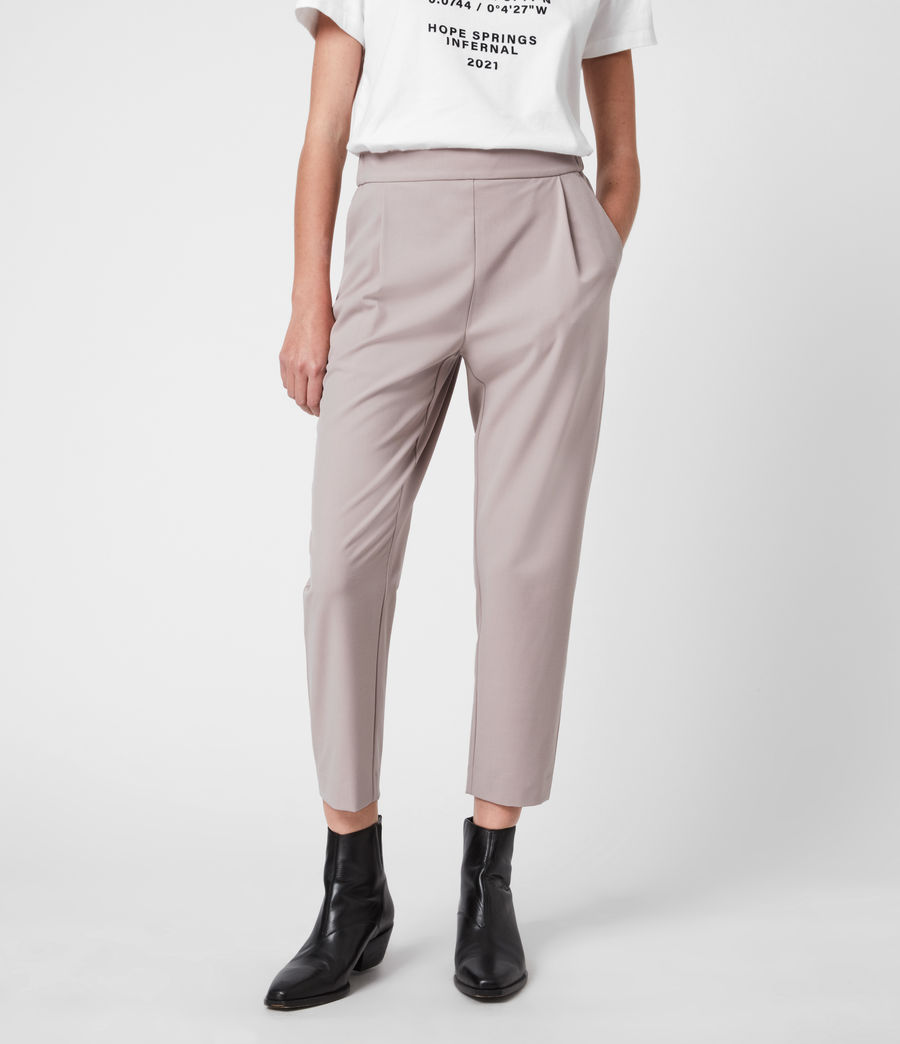 Women's Aleida Tri Mid-Rise Trousers (dusty_pink) - Image 1