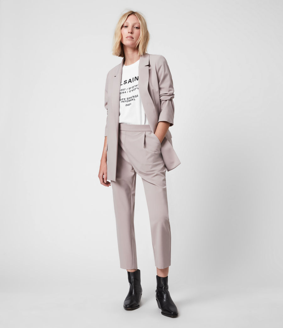 Women's Aleida Tri Mid-Rise Trousers (dusty_pink) - Image 4