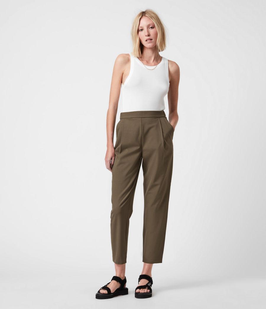 Womens Aleida Tri Mid-Rise Pants (khaki_green) - Image 1