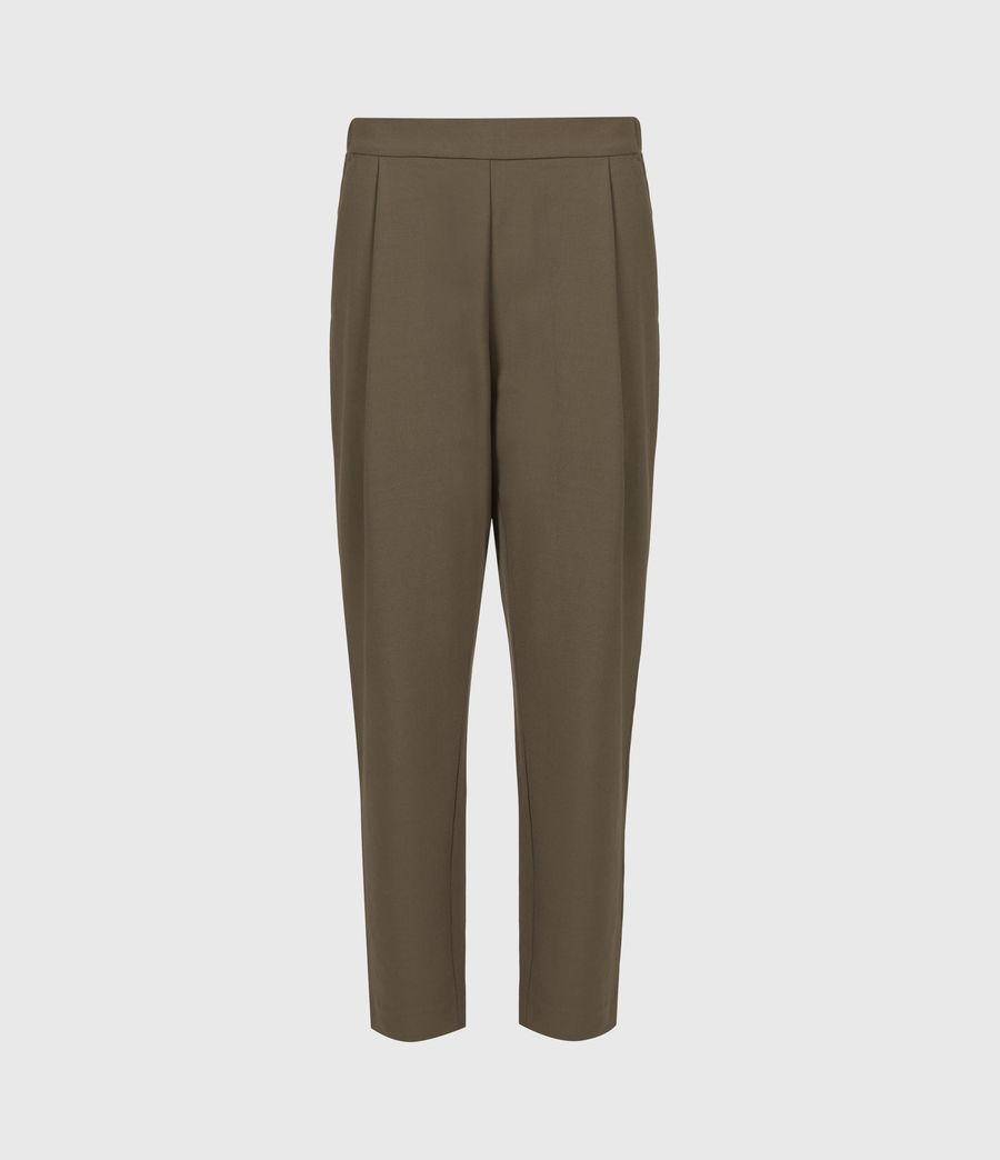 Womens Aleida Tri Mid-Rise Pants (khaki_green) - Image 2