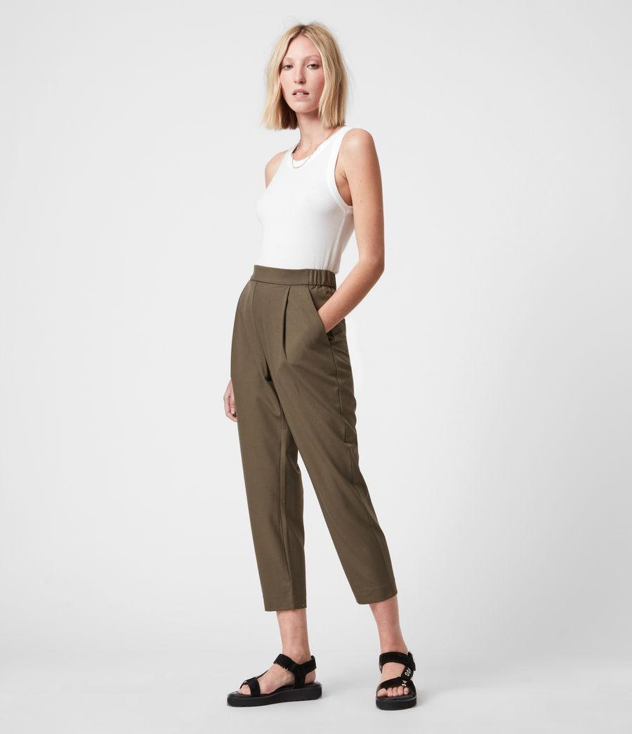 Womens Aleida Tri Mid-Rise Pants (khaki_green) - Image 6