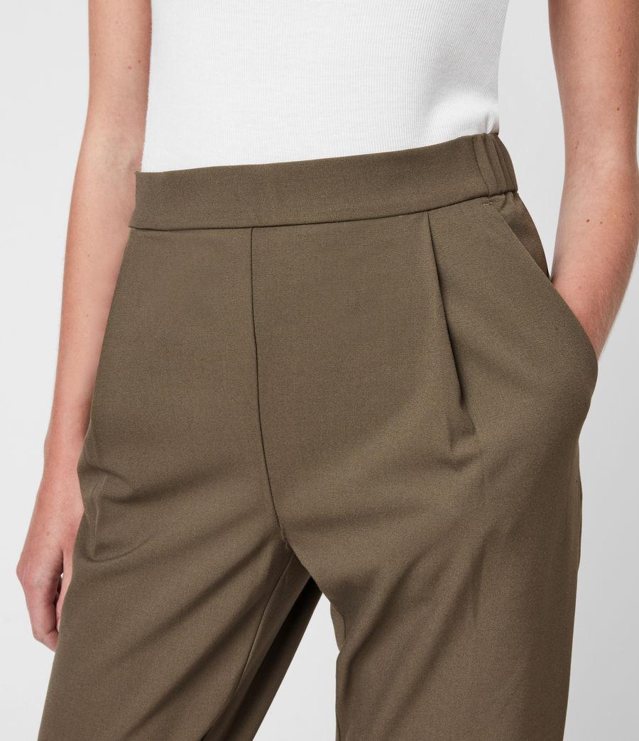 Womens Aleida Tri Mid-Rise Pants (khaki_green) - Image 7