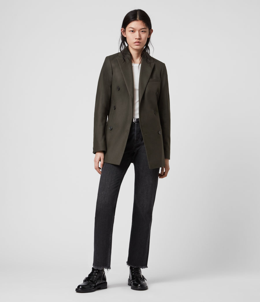 Women's Astrid Cashmere Blend Blazer (khaki_green) - Image 1