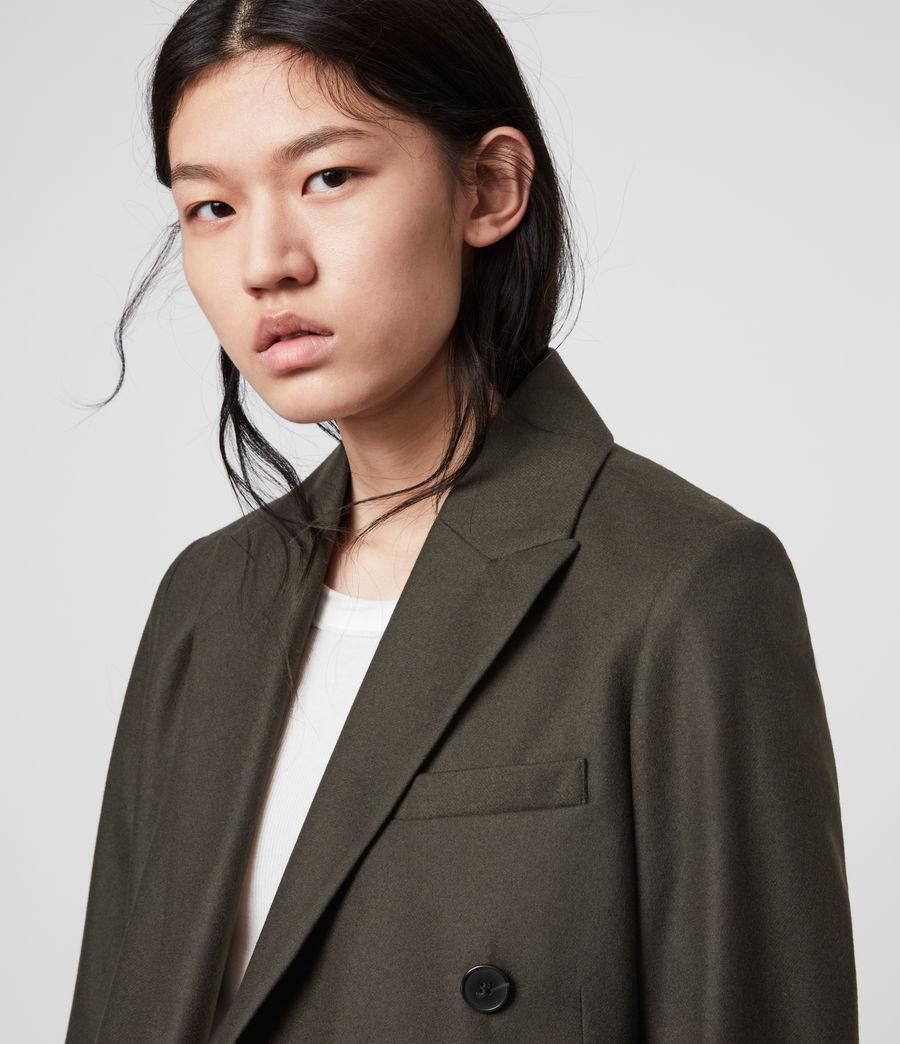 Women's Astrid Cashmere Blend Blazer (khaki_green) - Image 3