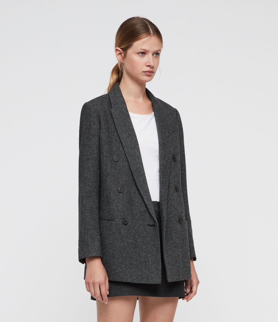 Women's Isla Blazer (charcoal_grey) - Image 4