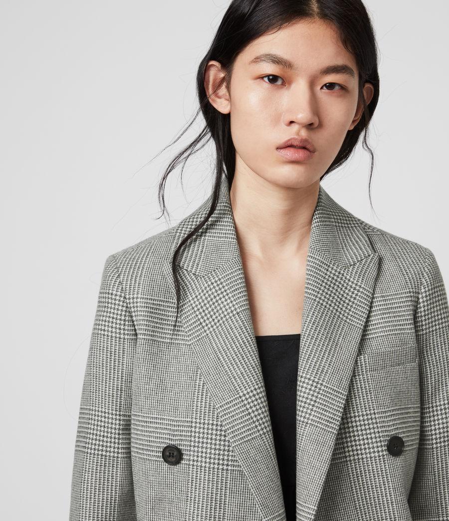 Women's Astrid Check Blazer (light_grey_ecru) - Image 2