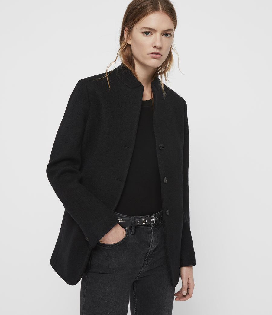 Women's Willa Blazer (black) - Image 1