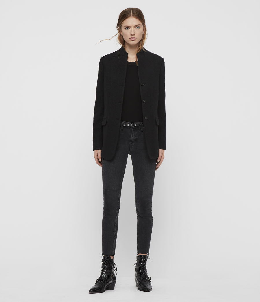 Women's Willa Blazer (black) - Image 3