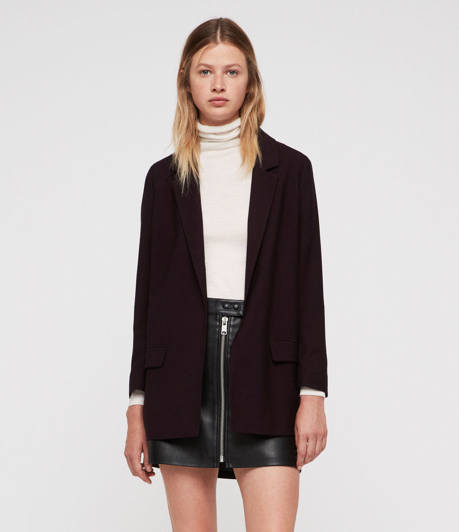 Women's Aleida Blazer (bordeaux_red) - Image 1