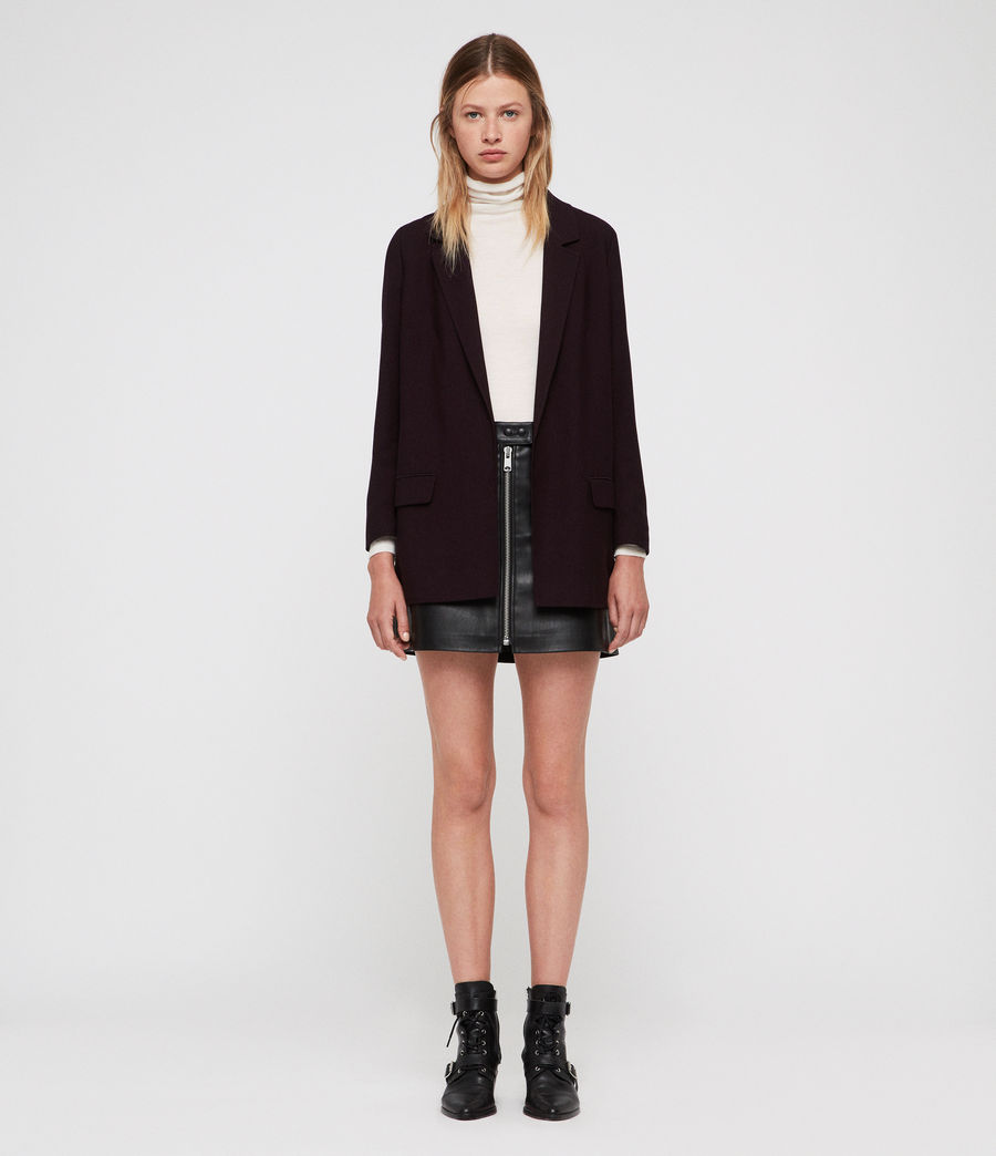 Women's Aleida Blazer (bordeaux_red) - Image 3