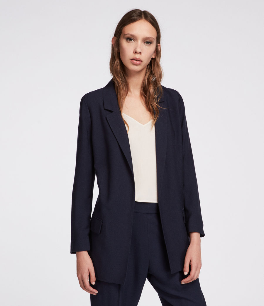 Womens Aleida Blazer (ink_blue) - Image 1