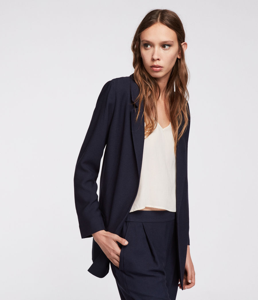 Womens Aleida Blazer (ink_blue) - Image 3