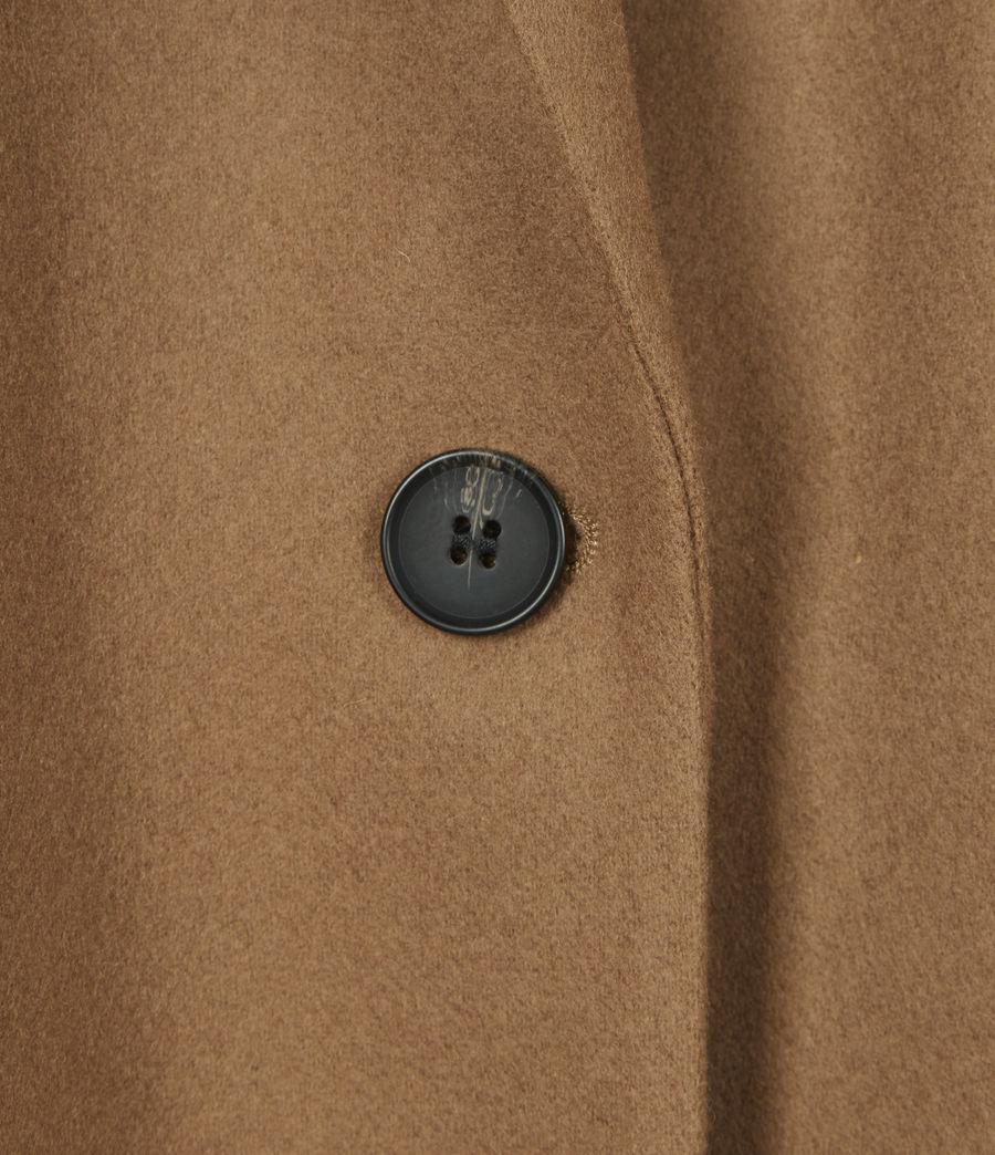 Women's Jesse Wool Blend Blazer (camel_brown) - Image 6
