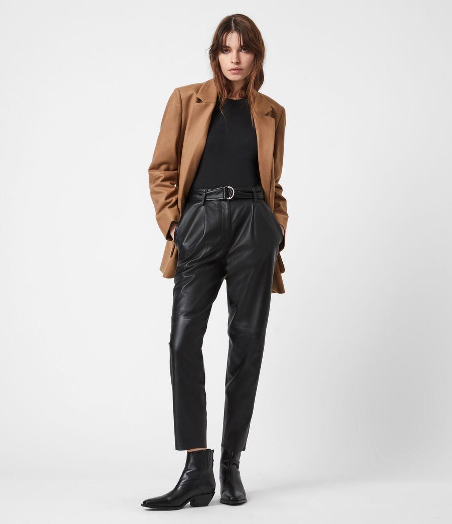 Women's Jesse Wool Blend Blazer (camel_brown) - Image 7