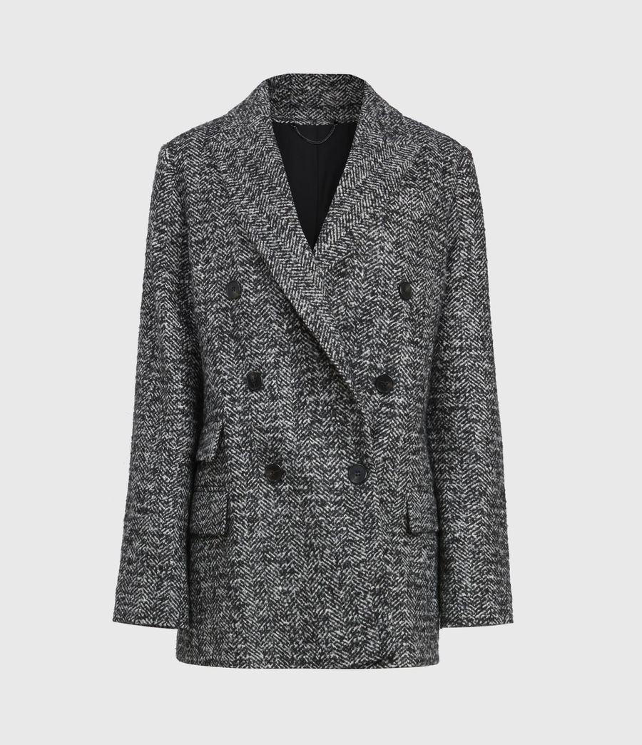Women's Parker Wool Blend Blazer (black_white) - Image 2