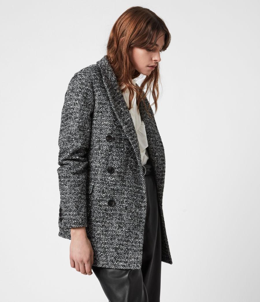 Women's Parker Wool Blend Blazer (black_white) - Image 4