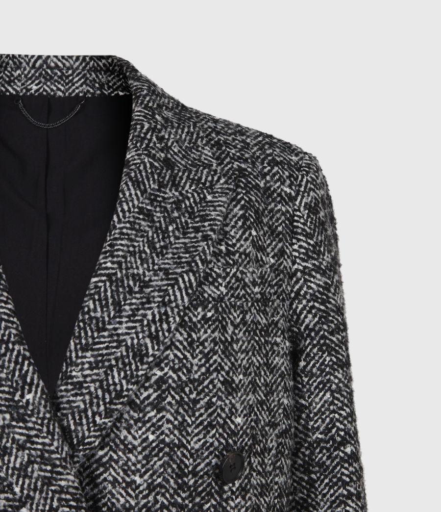 Women's Parker Wool Blend Blazer (black_white) - Image 5