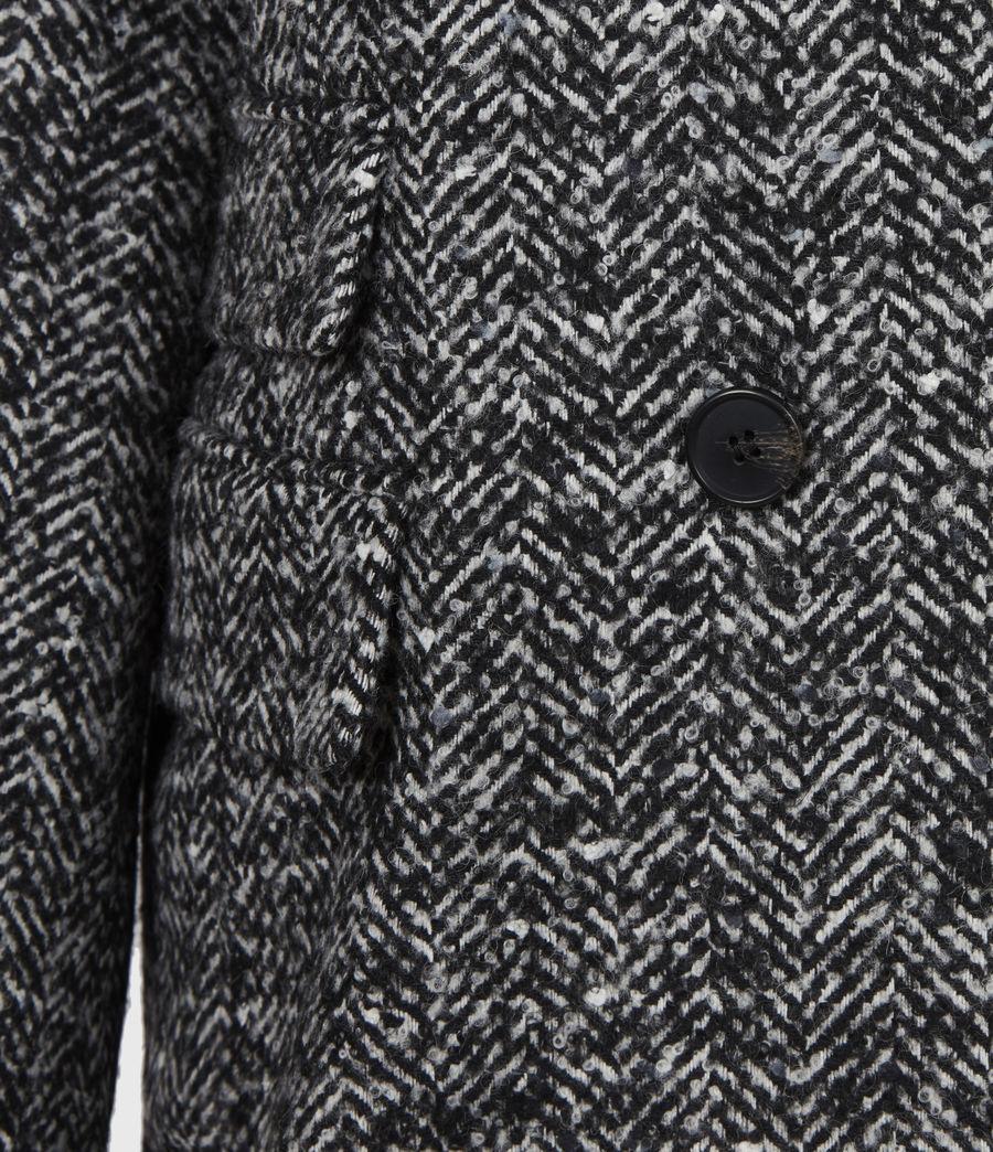 Women's Parker Wool Blend Blazer (black_white) - Image 6