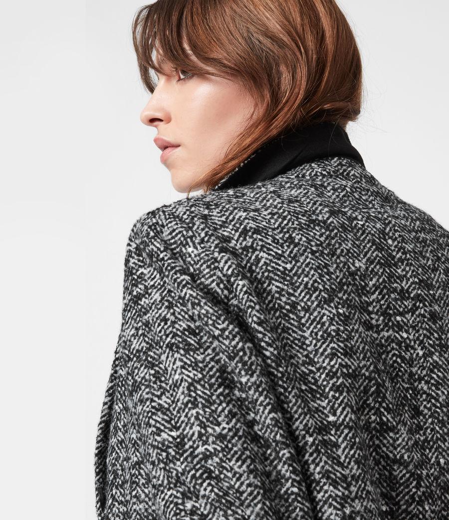 Women's Parker Wool Blend Blazer (black_white) - Image 7