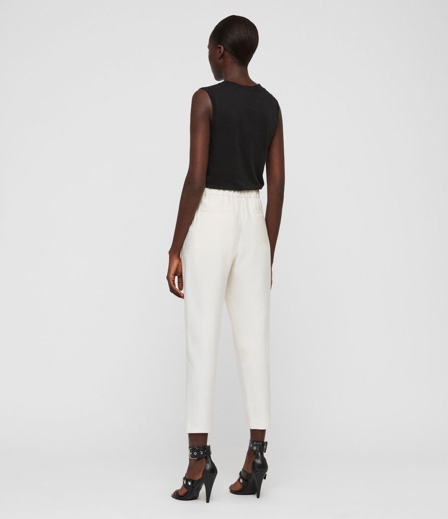 Women's Aleida Tapered High-Rise Trousers (ecru_white) - Image 5