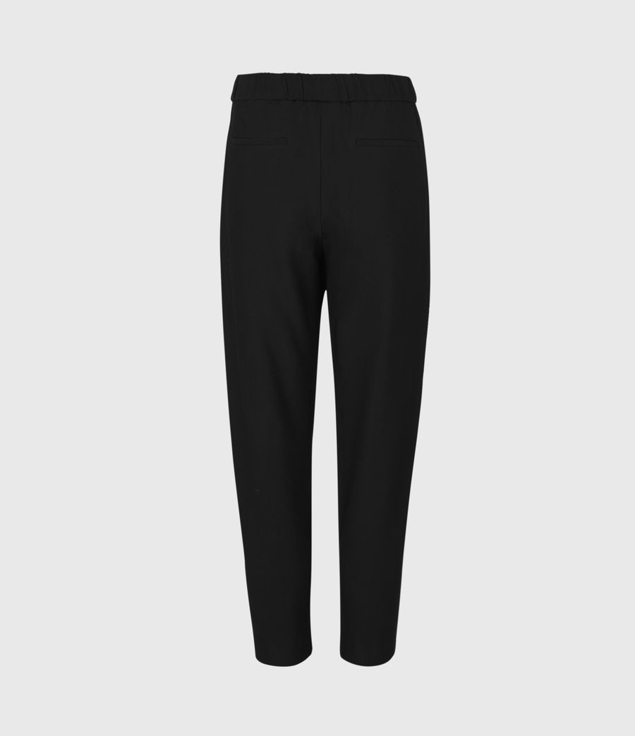 Women's Aleida Tapered Mid-Rise Trousers (black) - Image 3