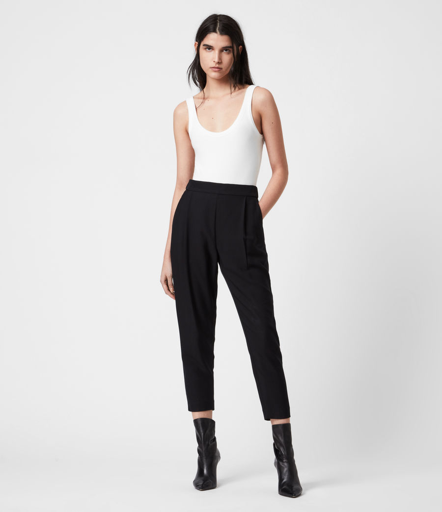 Women's Aleida Tapered Low-Rise Trousers (ink_blue) - Image 6