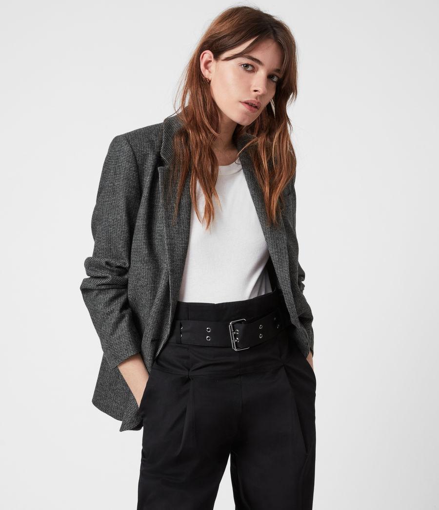 Women's Maryn Wool Blend Blazer (black_charcoal) - Image 1