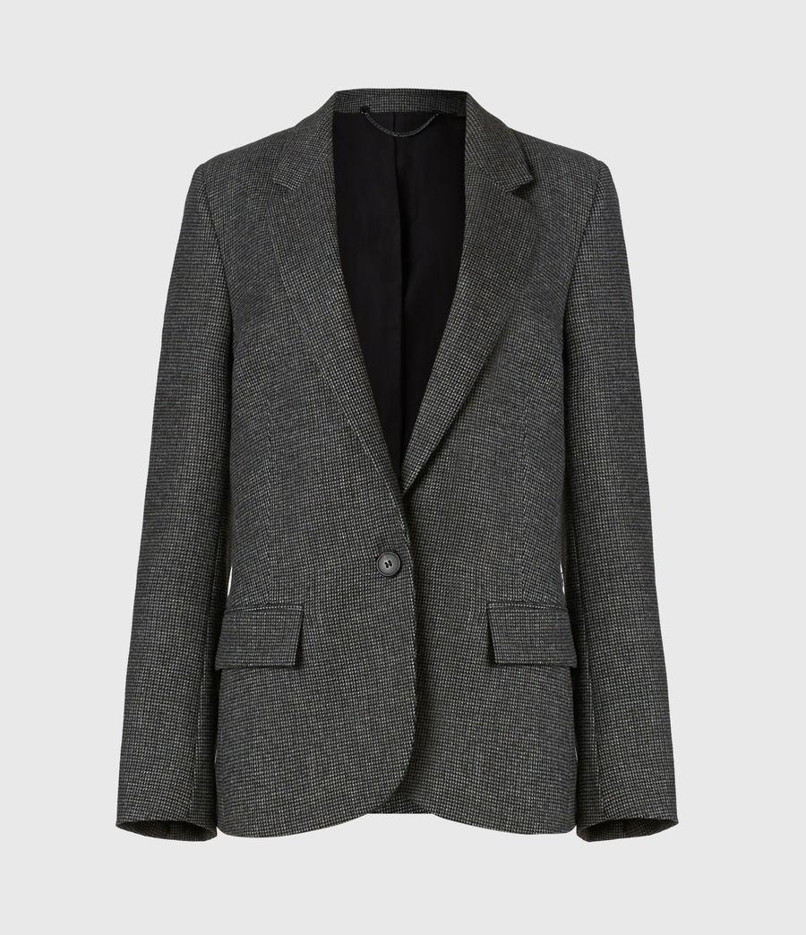 Women's Maryn Wool Blend Blazer (black_charcoal) - Image 2