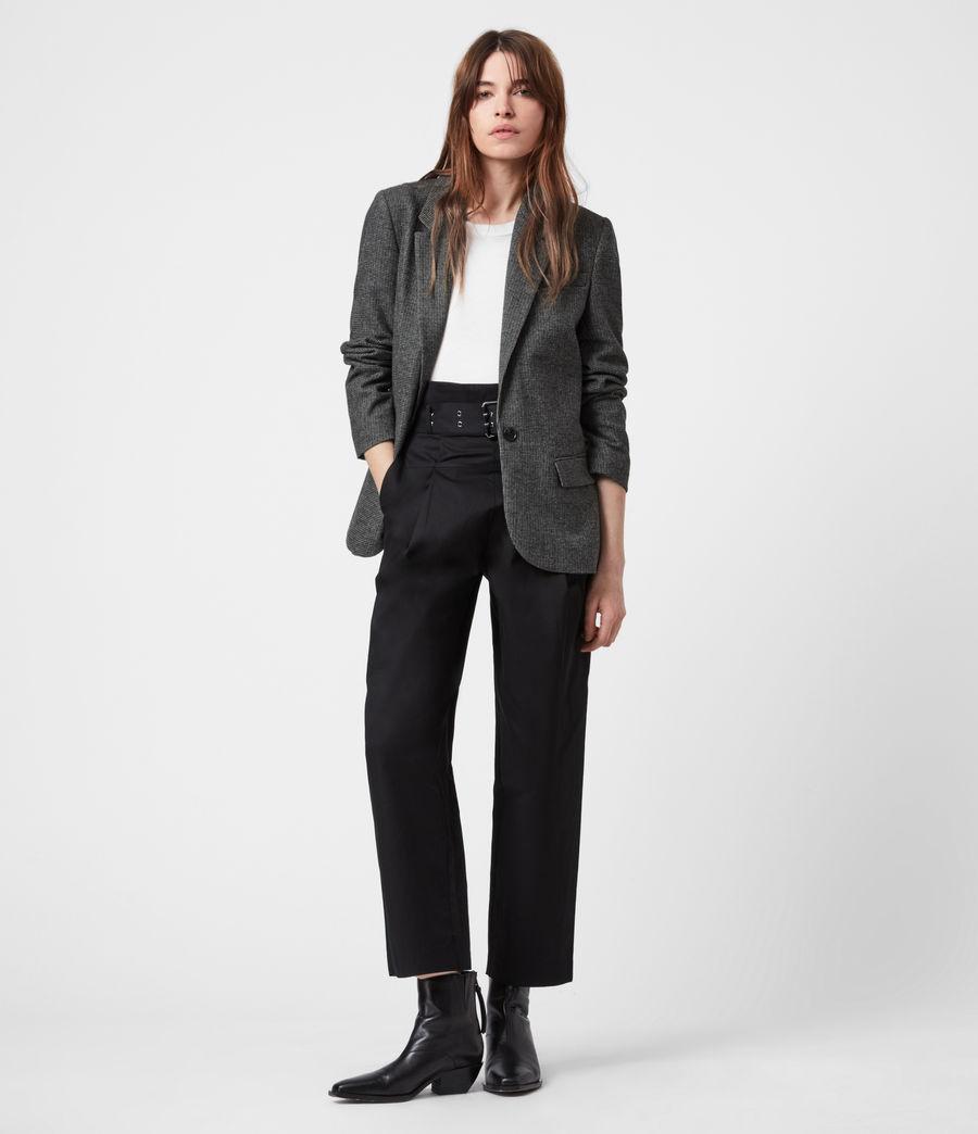 Women's Maryn Wool Blend Blazer (black_charcoal) - Image 7