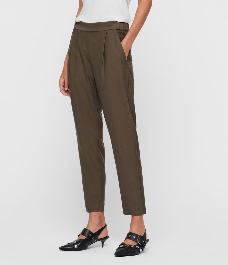 Womens Aleida Mid-Rise Pants (mocha_brown) - Image 4