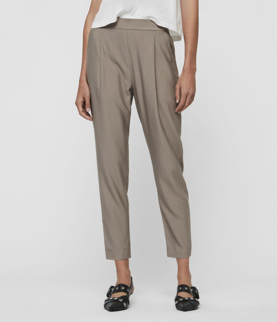 Womens Aleida Mid-Rise Pants (mocha_brown) - Image 1