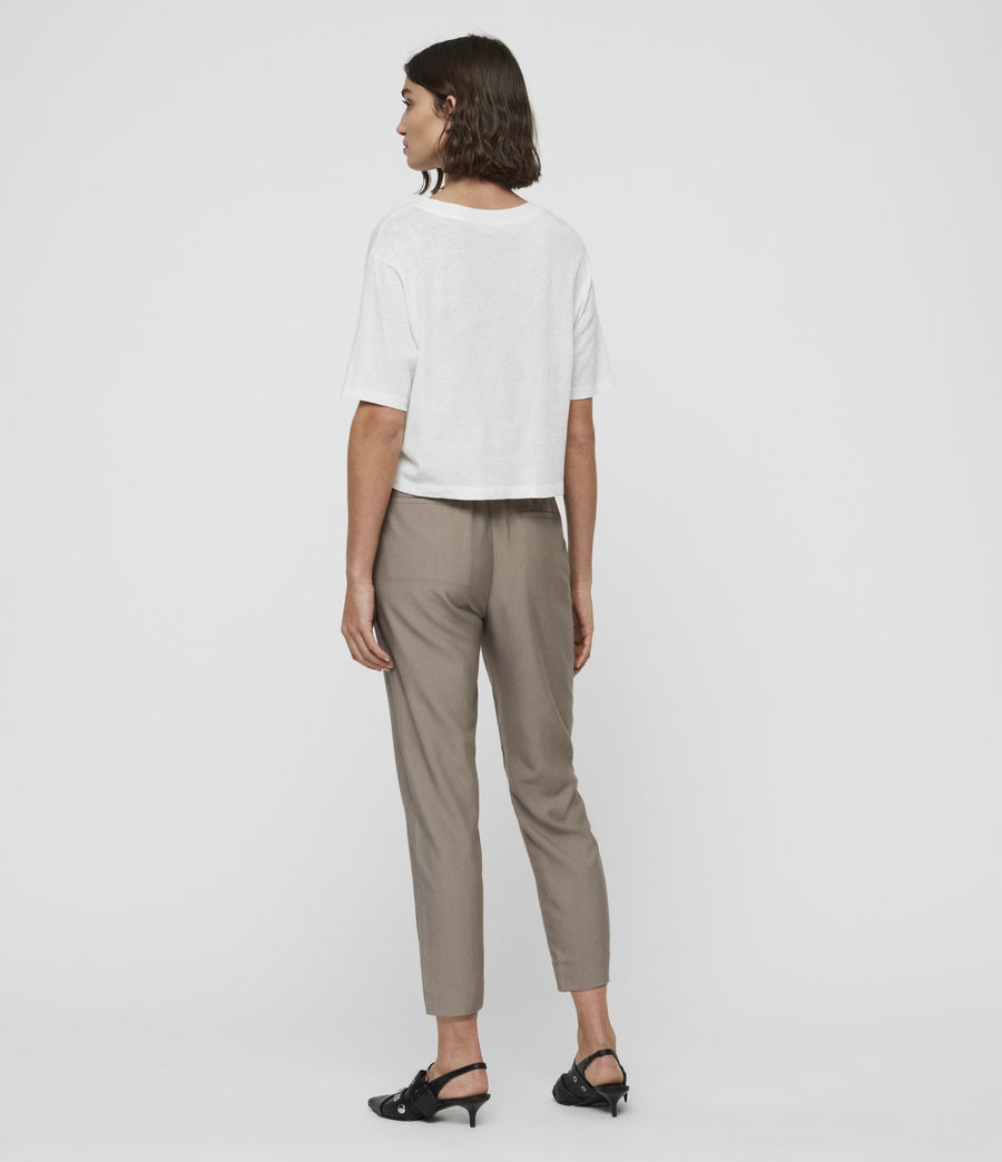 Womens Aleida Mid-Rise Pants (mocha_brown) - Image 5