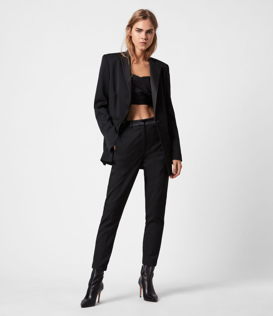 Women's Sofia High-Rise Slim Trousers (black) - Image 1