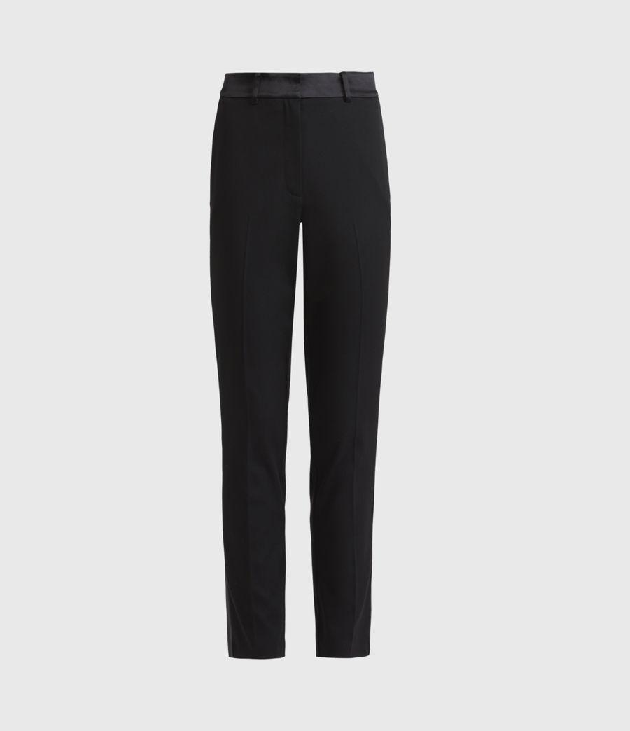 Women's Sofia High-Rise Slim Trousers (black) - Image 2
