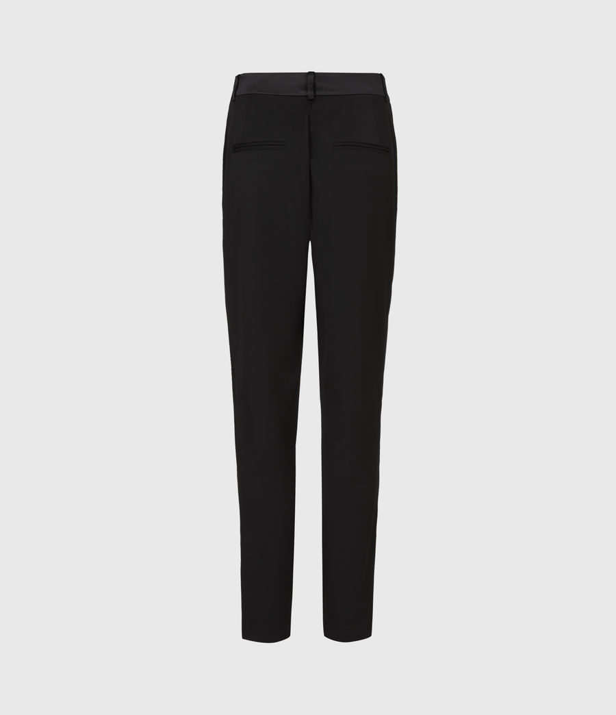 Women's Sofia High-Rise Slim Trousers (black) - Image 3