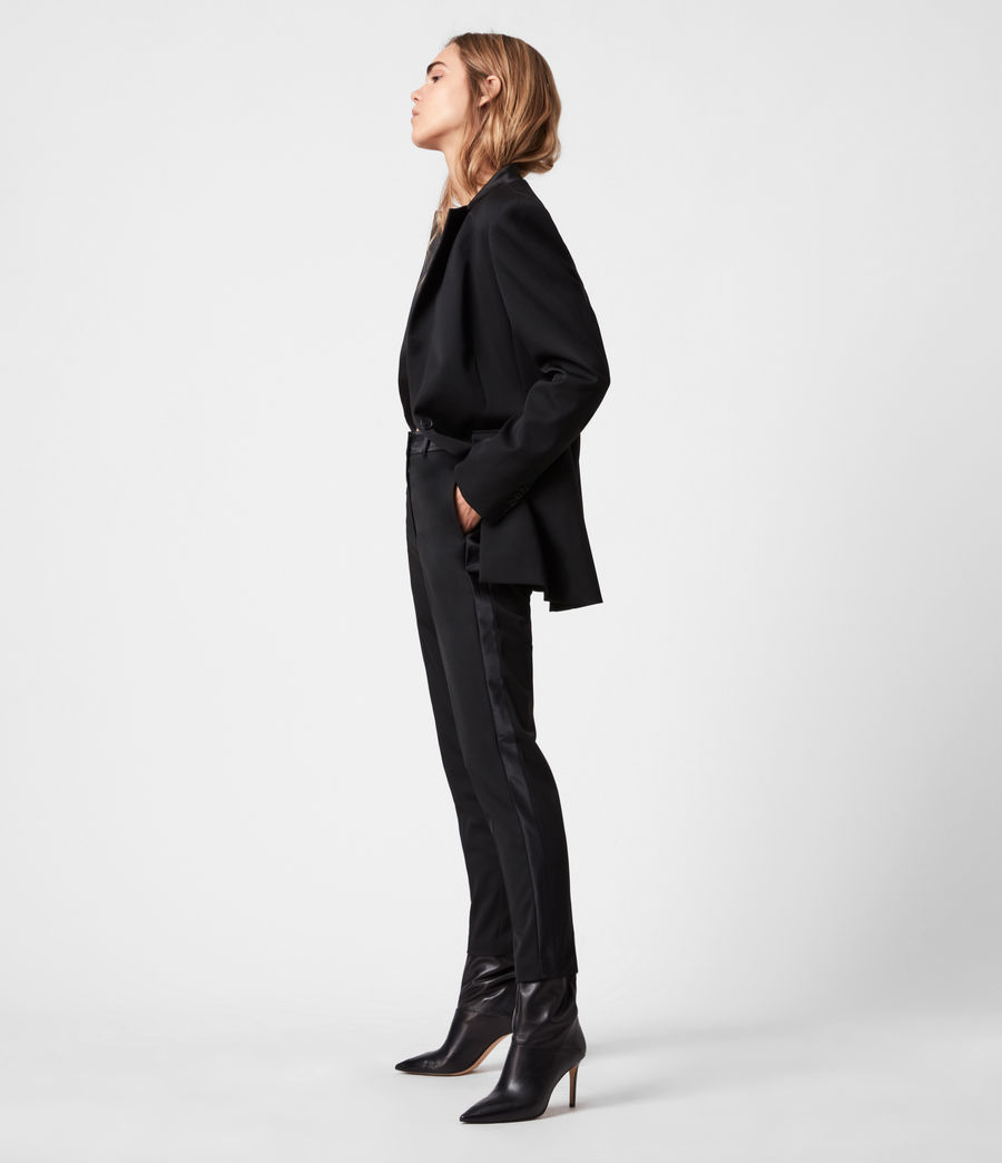 Women's Sofia High-Rise Slim Trousers (black) - Image 4