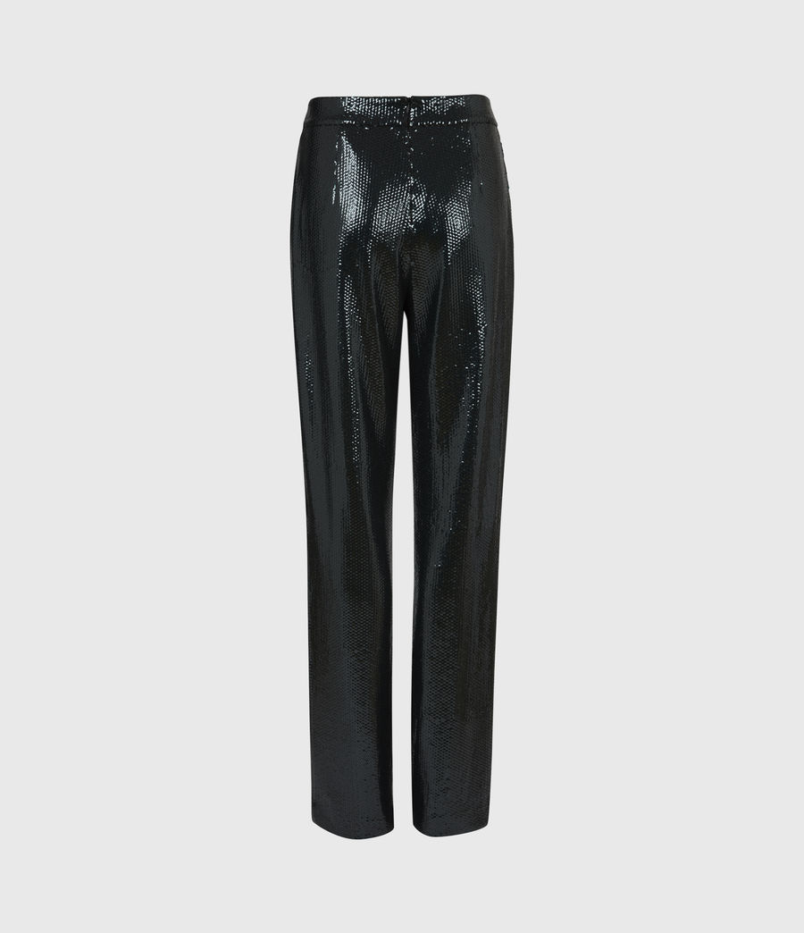 Women's Leanna Mid-Rise Relaxed Trousers (petrol_blue) - Image 3