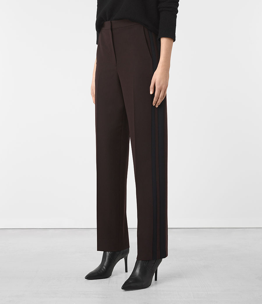 Donne Astara Wide-Leg Trousers (oxblood) - Image 2