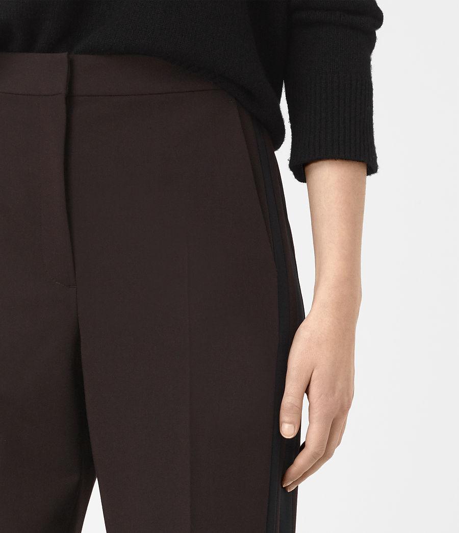 Donne Astara Wide-Leg Trousers (oxblood) - Image 3